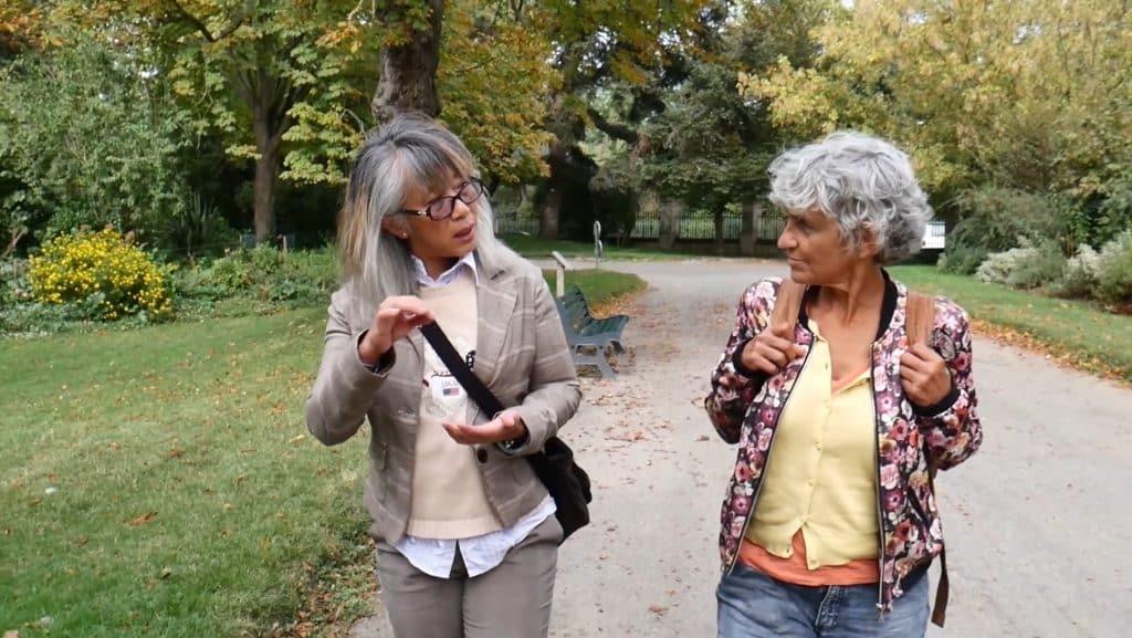 Interview video pour Marina par notre prestataire audiovisuel à Toulouse.